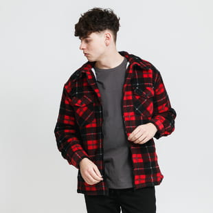 Urban Classics Plaid Teddy Lined Shirt Jacket