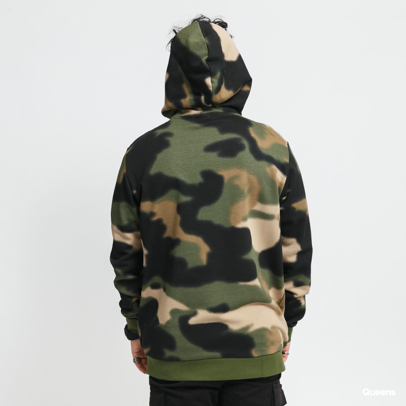 adidas Originals Camo AOP Hoodie camo zelená