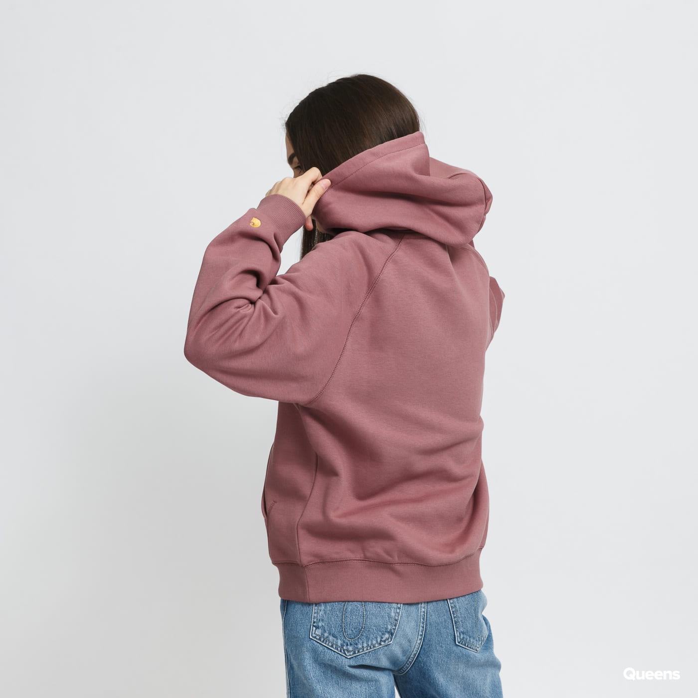 Carhartt WIP W Hooded Chase Sweat světle fialová
