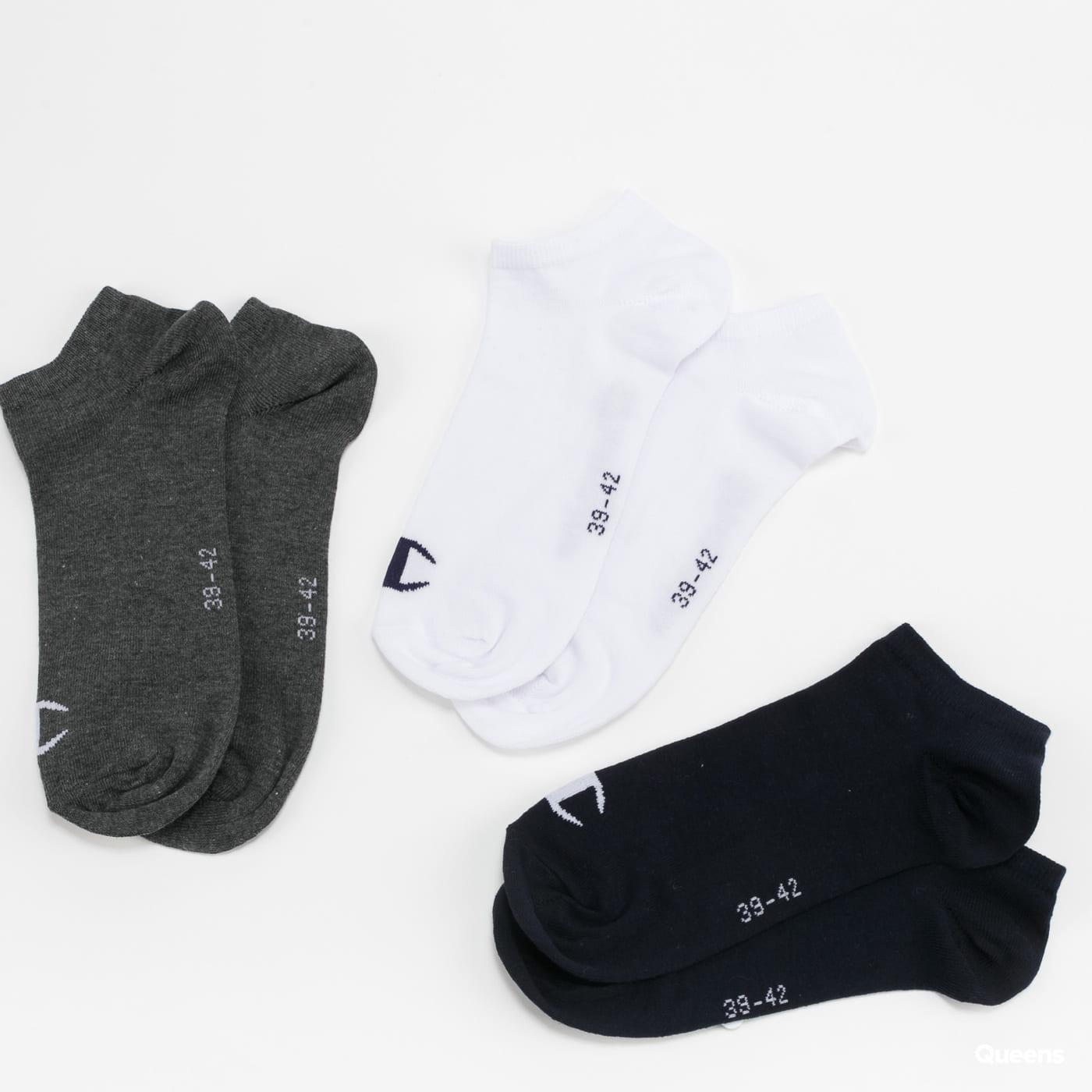 Champion 3Pack In Shoe Legacy Socks navy / white / melange dark gray