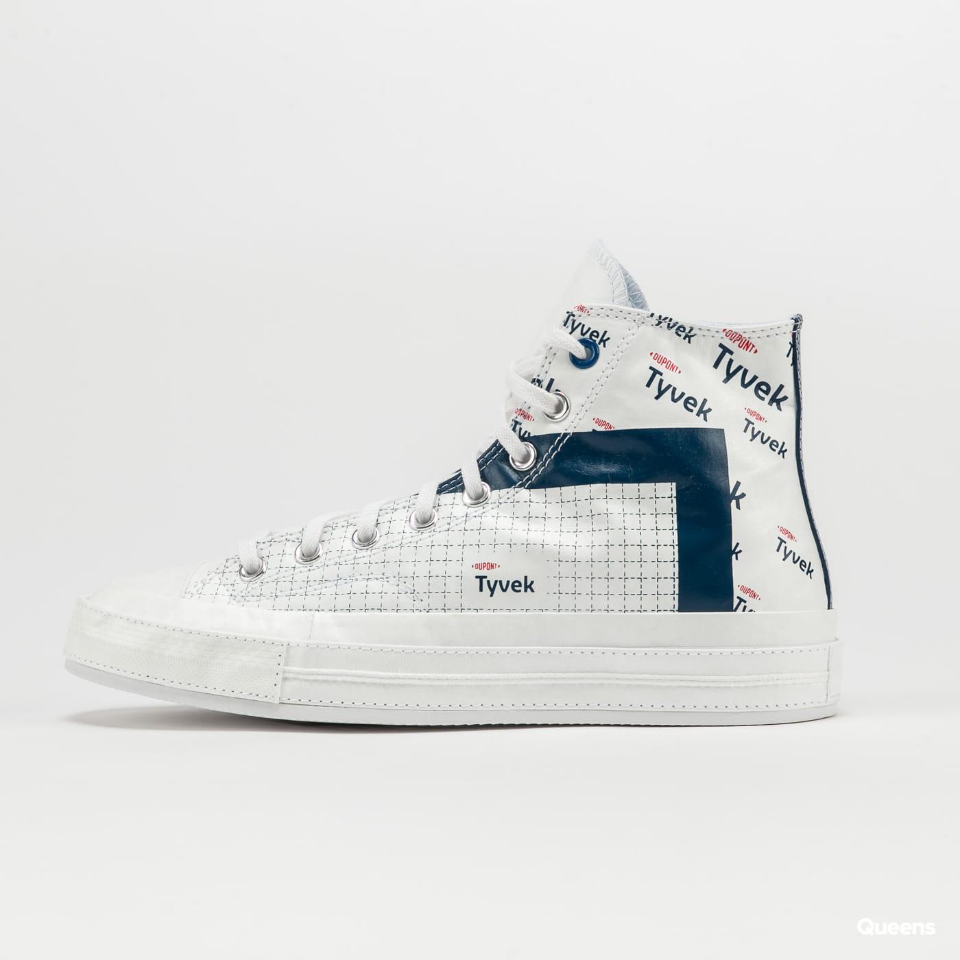 Converse Chuck 70 Hi white / princess blue / fiery red