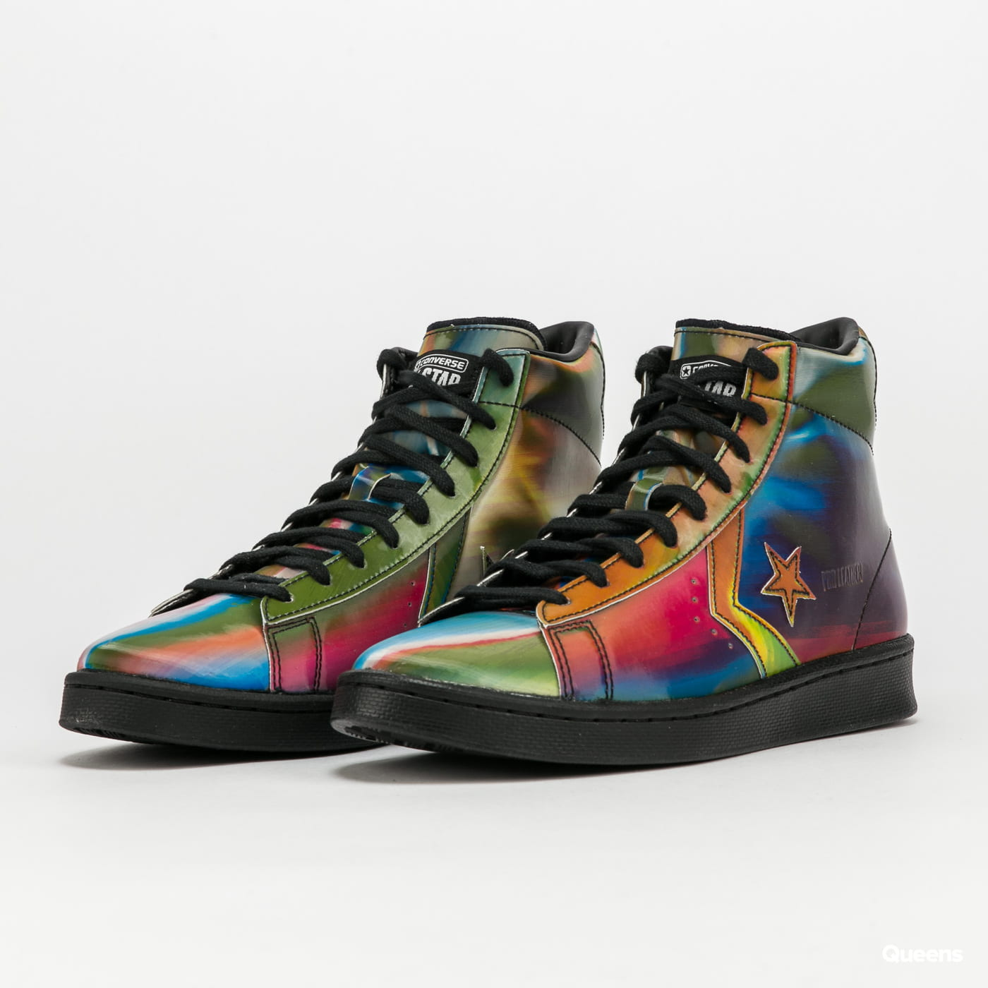 Converse Pro Leather Hi black / multi / white