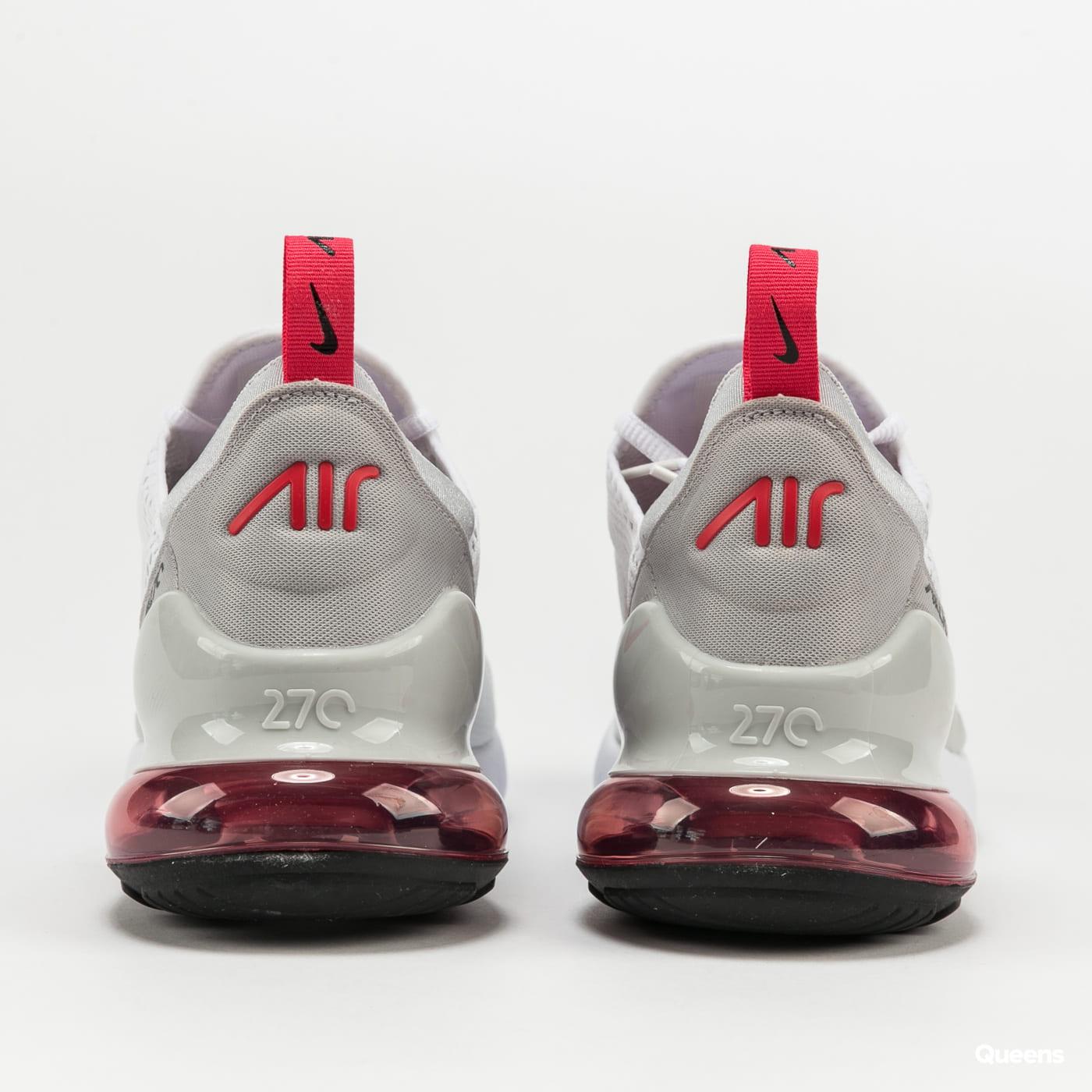 Nike Air Max 270 white / lt fusion red - grey fog