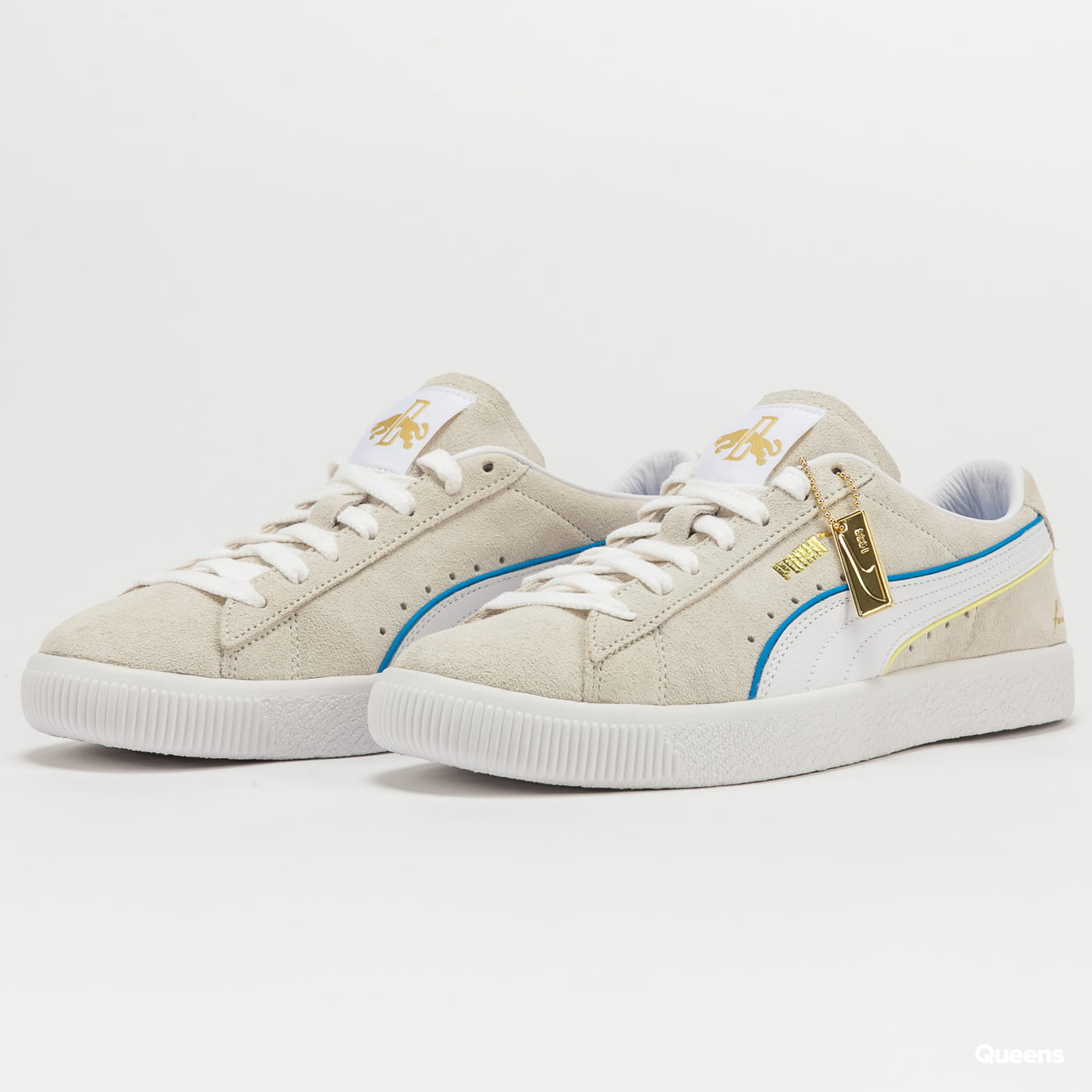 Puma Suede VTG RDL FS vap gray - puma white - ibiza blue
