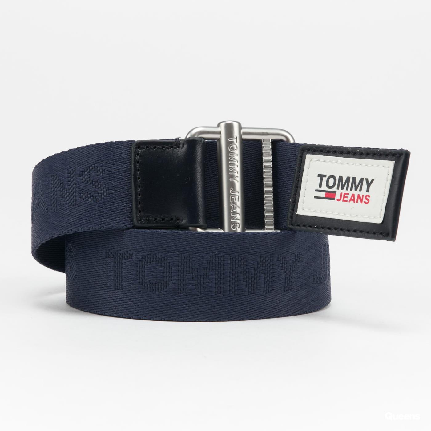 TOMMY JEANS M Essential Webbing Belt navy