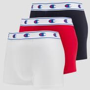 Champion Boxery 3Pack bílé / červené / navy