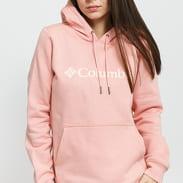 Columbia Logo Hoodie dark pink