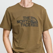 The North Face M S/S Woodcut Dome Tee khaki