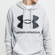 Under Armour Rival Fleece Big Logo Hoodie melange šedá