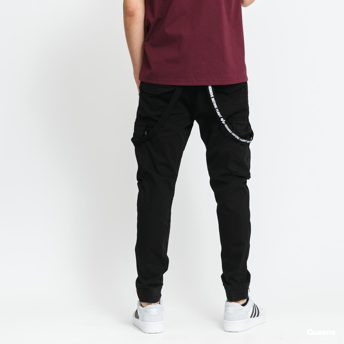 Alpha Industries Utility Pant black stone washed no length