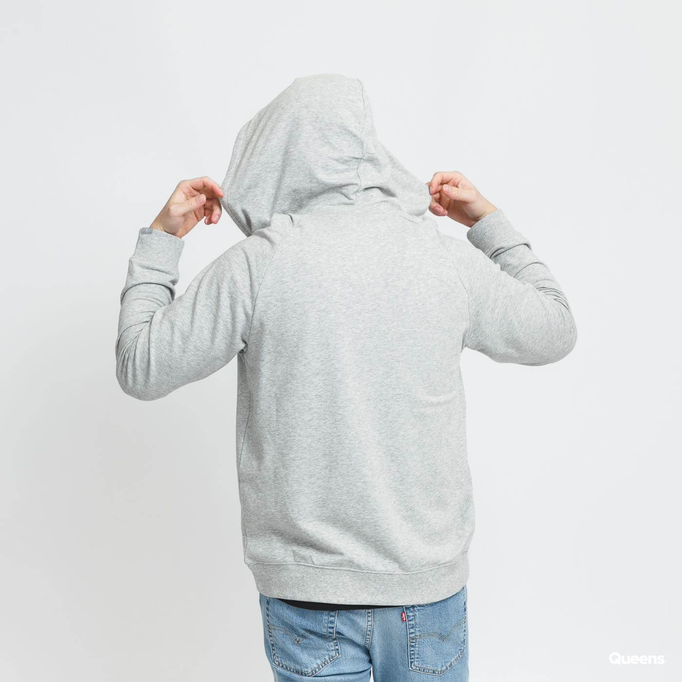 Calvin Klein Full Zip Hoodie C/O melange gray