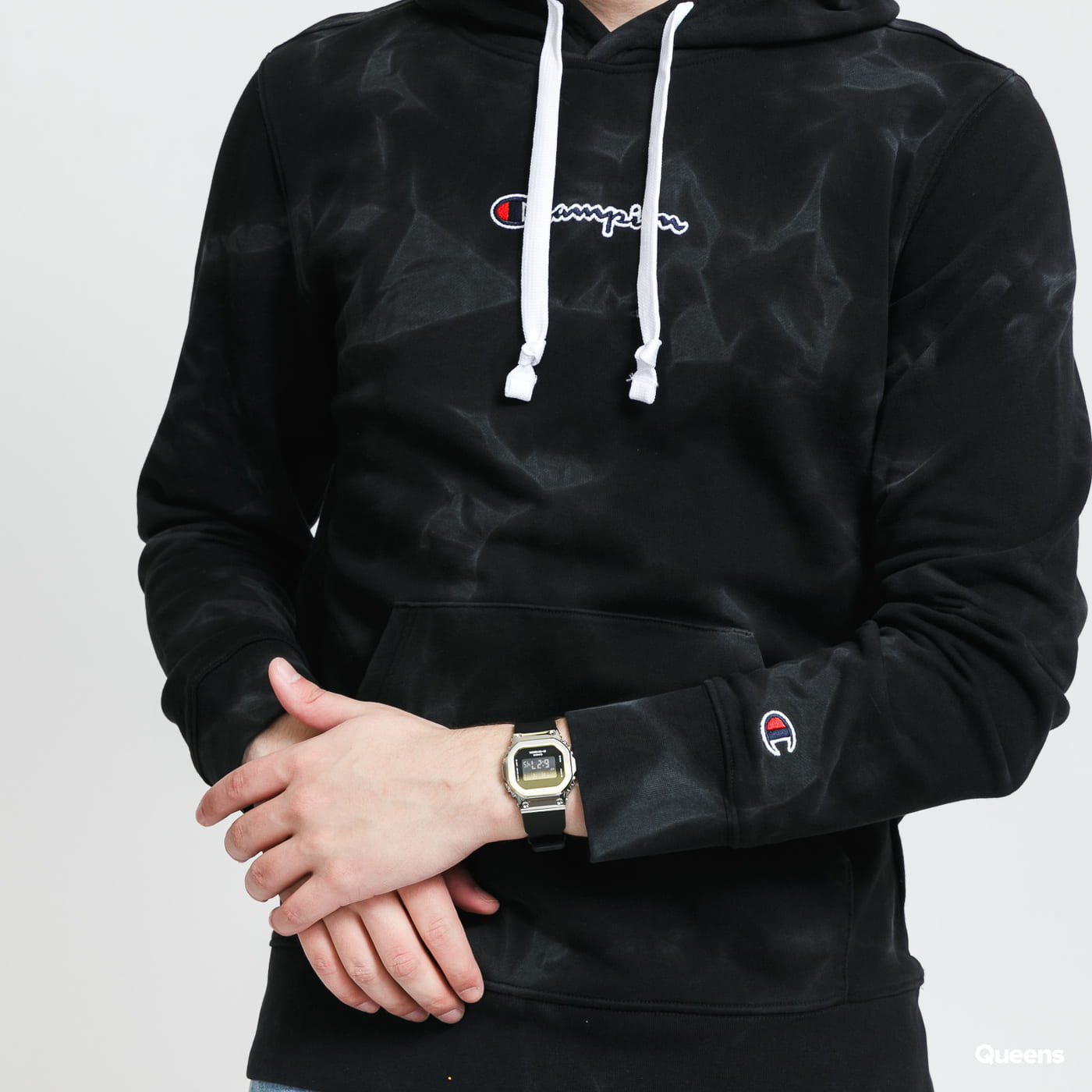 Champion Hooded Sweatshirt gray / beige / pink / black