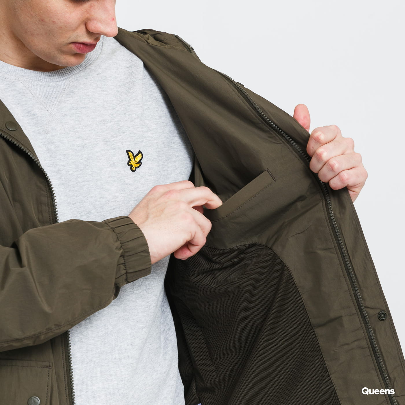 Lyle & Scott Hooded Pocket Jacket dark olive