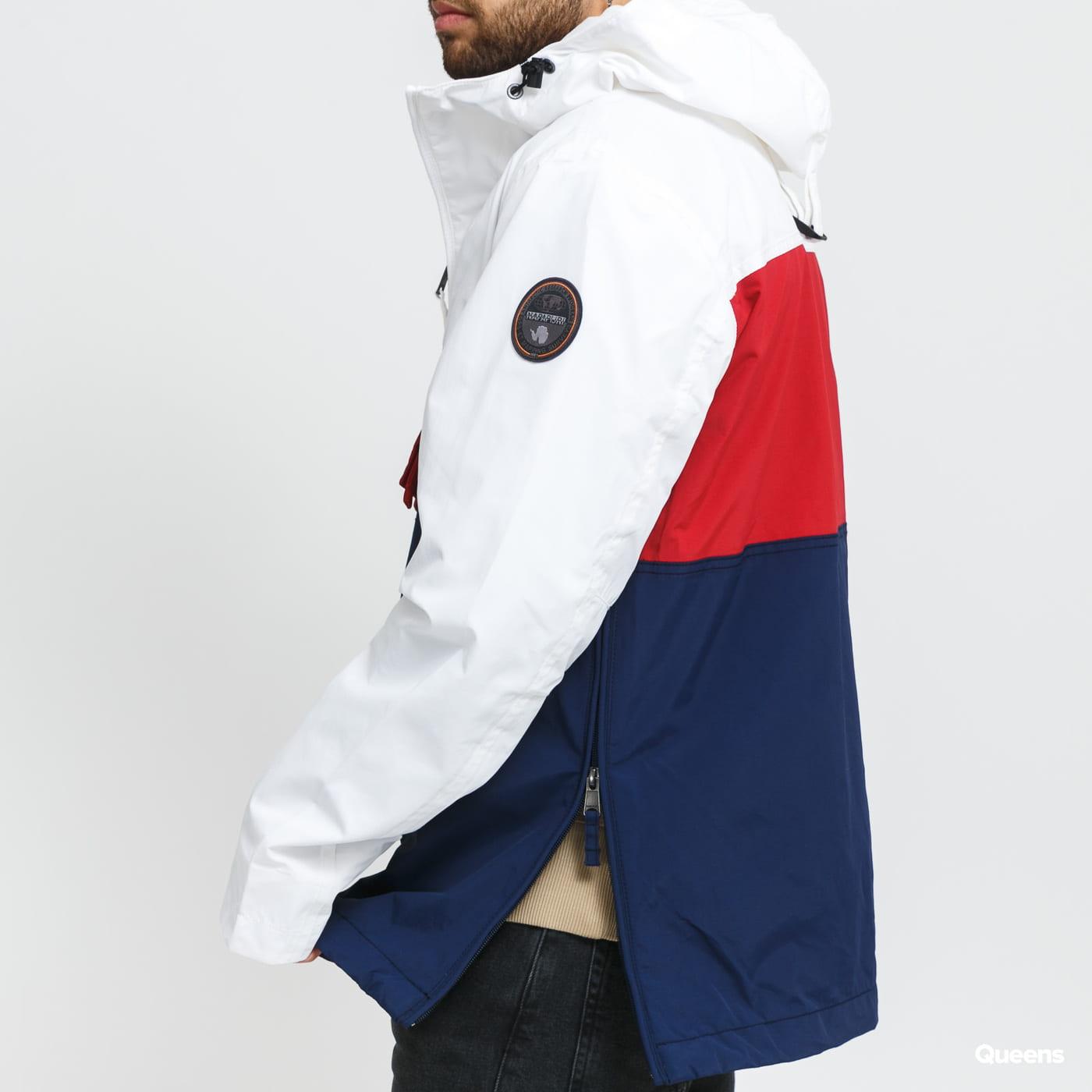 NAPAPIJRI Rainforest S Block 1 Jacket white / navy / bordeaux