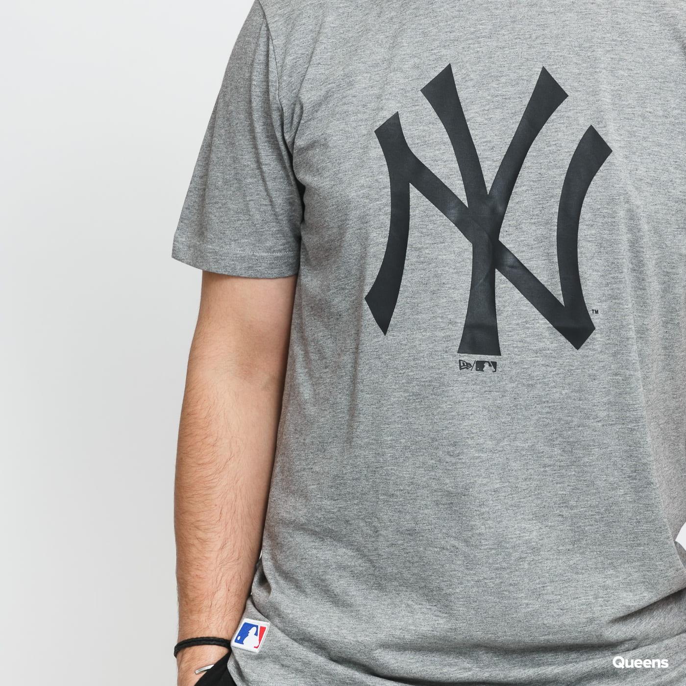 New Era MLB Seasonal Team Logo Tee NY melange šedé