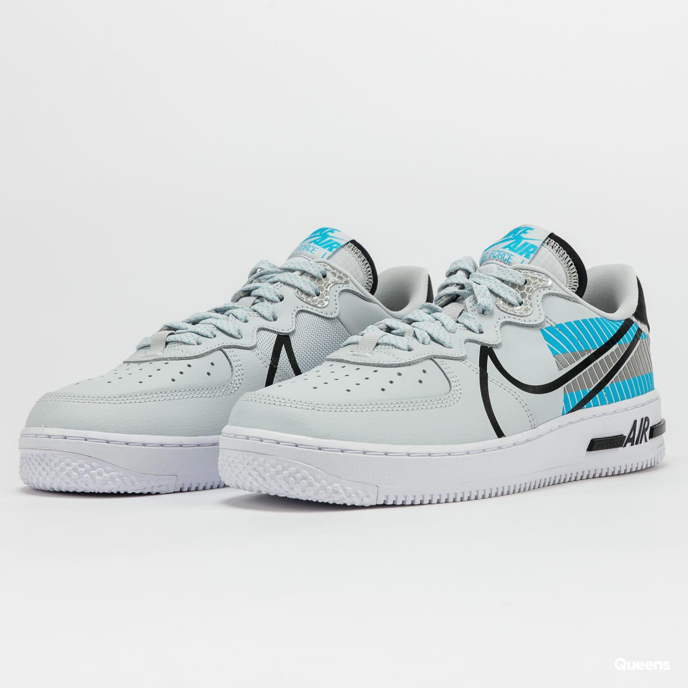 Sneakers Nike Air Force 1 React LX 3M pure platinum / black ...