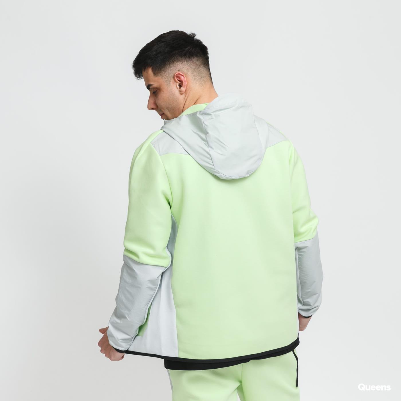 Nike M NSW Tech Fleece FZ Woven Hoodie Mix světle zelená / šedá