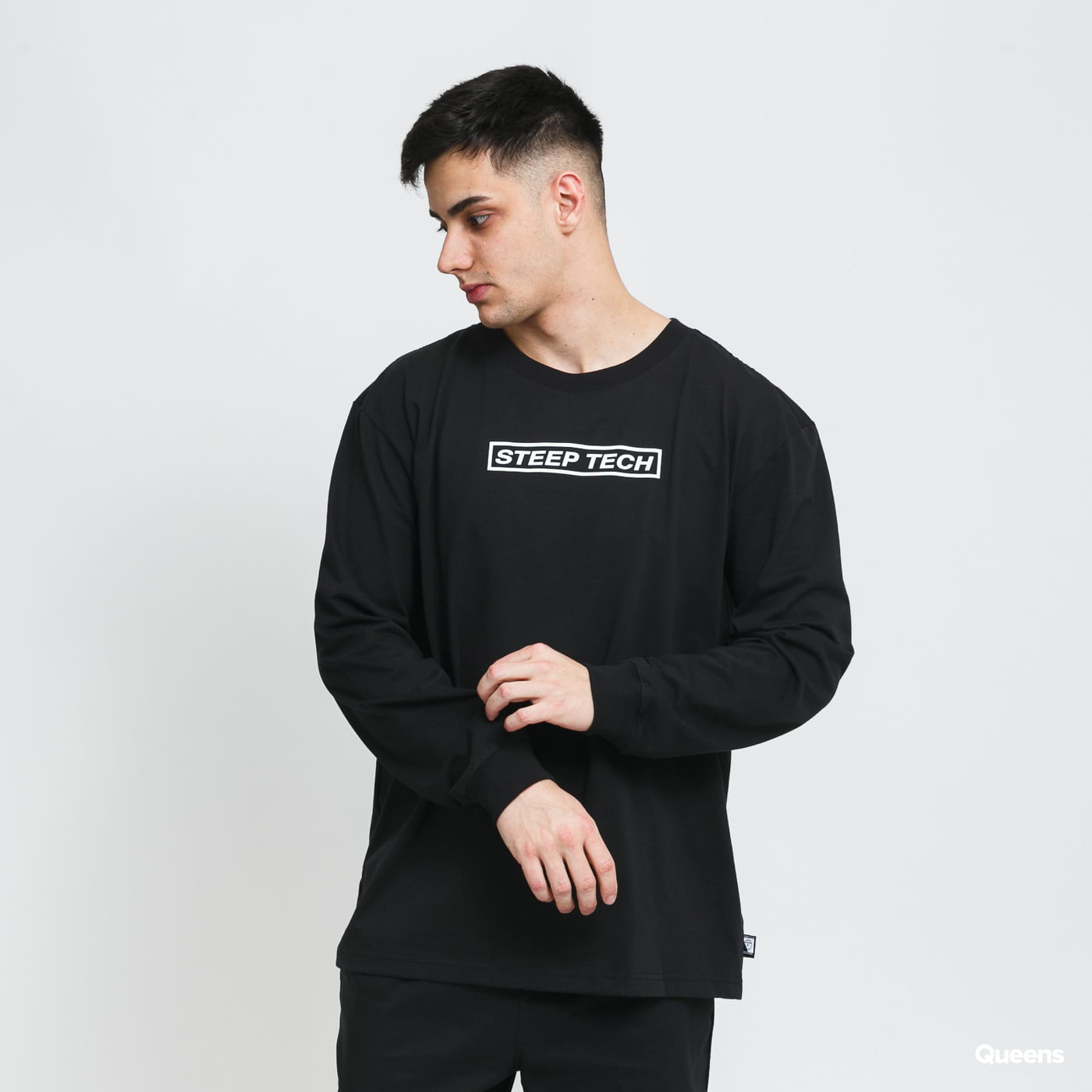 The North Face Steep Tech LT LS Top black stone washed no length