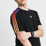 adidas Originals Sport 3 Stripe Tee černé