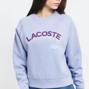 LACOSTE Women's Lacoste LIVE Lettered Cropped Sweatshirt fialová