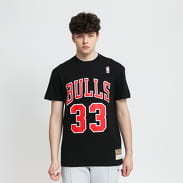 Mitchell & Ness Name & Number Tee - Pippen #33 Chicago Bulls černé