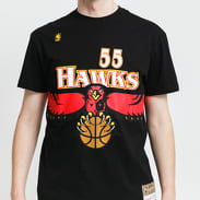 Mitchell & Ness NBA Name & Number Tee - Mutombo #55 Atlanta Hawks černé