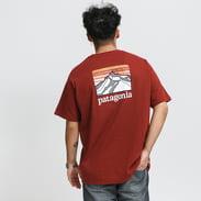 Patagonia M's Line Logo Ridge Pocket Responsibili Tee melange bordeaux