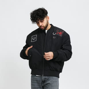 FRED PERRY Graphic Applique Bomber Jacket
