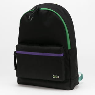 LACOSTE Neocroc Coloured Accents Canvas Backpack