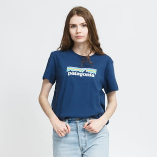 Patagonia W's Pastel P-6 Logo Organic Crew Tee