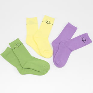 Urban Classics Heart Oneline Socks 3-Pack
