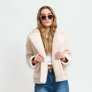 Urban Classics Ladies Oversize Sherpa Lapel Jacket