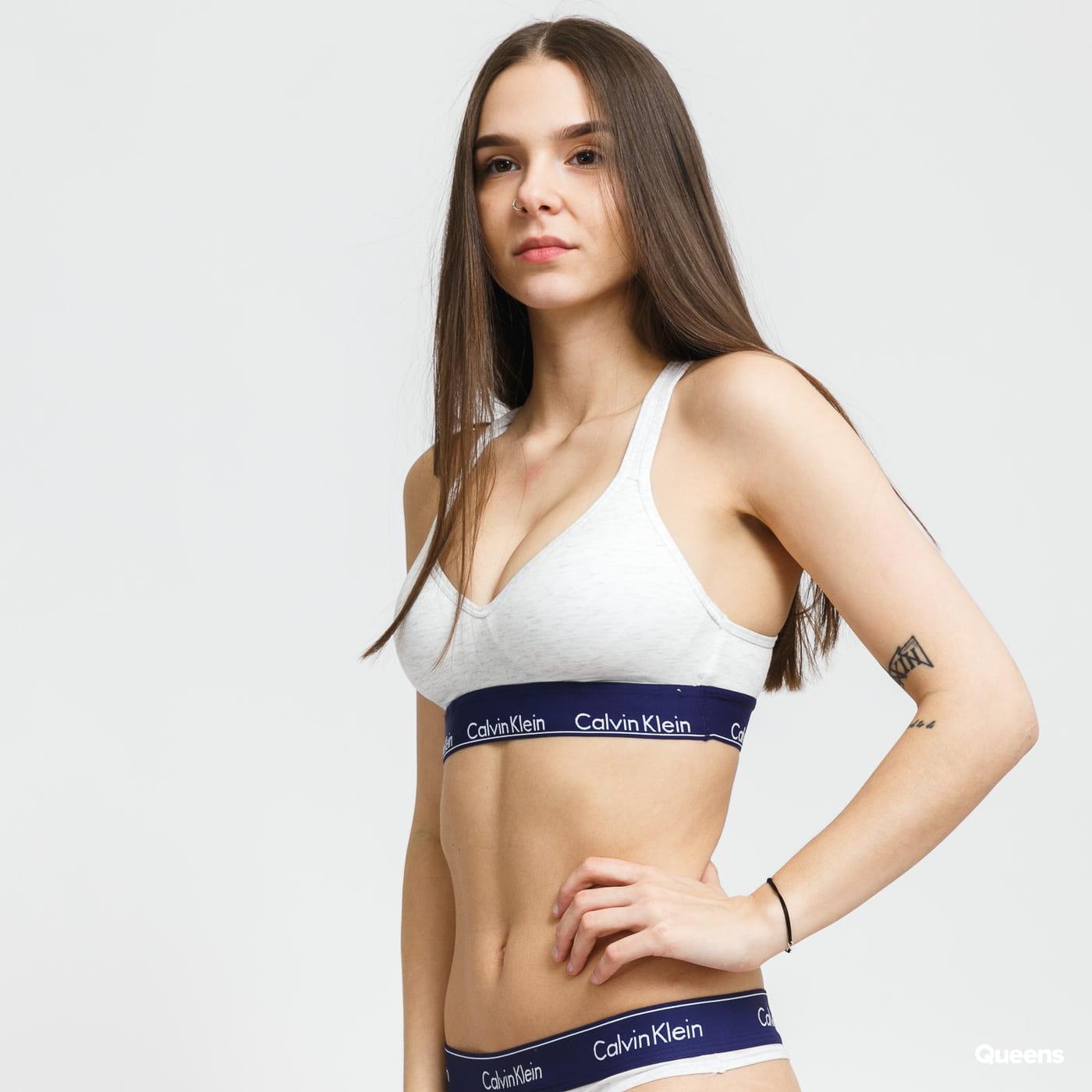 Calvin Klein Women's Bralette Lift melange gray / purple