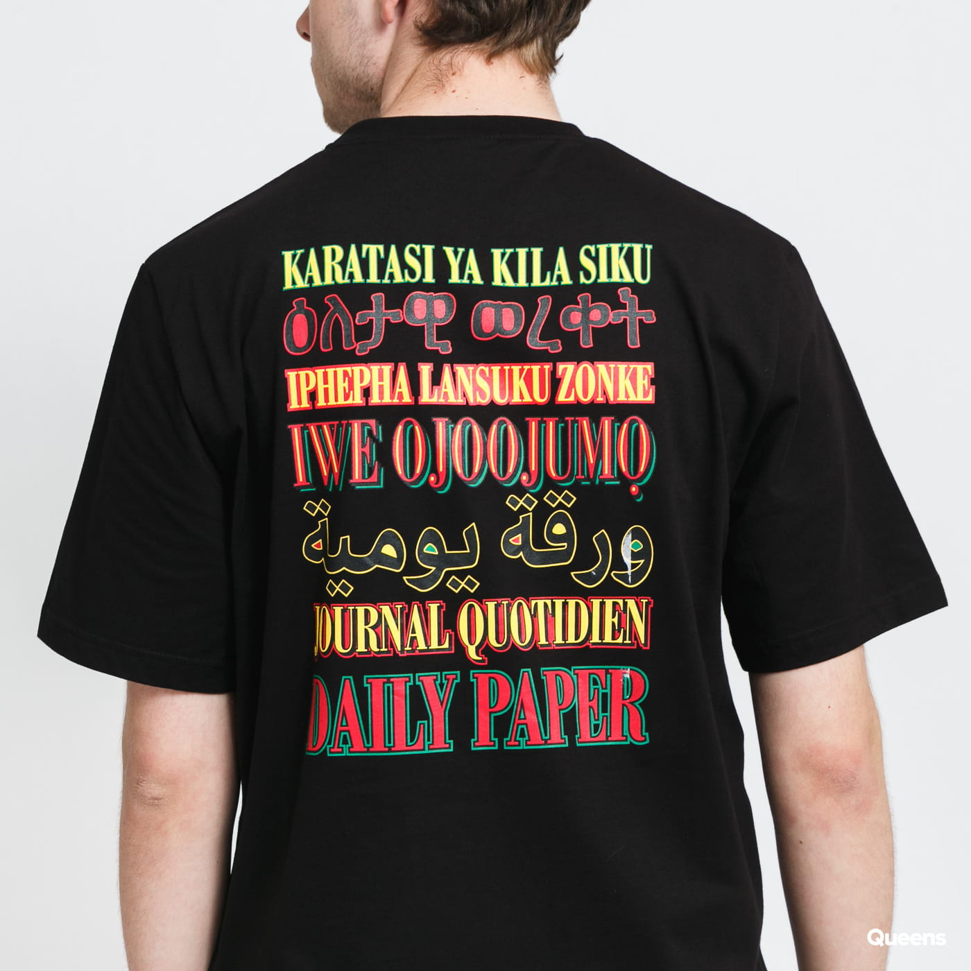 Daily Paper Remulti Tee black stone washed no length