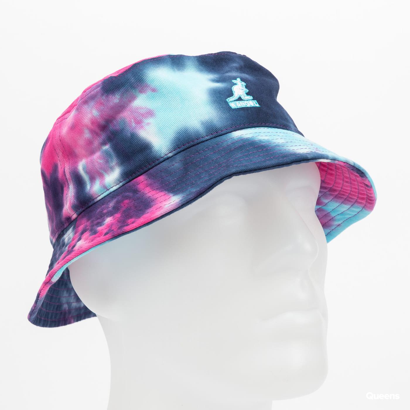 KANGOL Tie Dye Bucket růžový / navy / světle modrý