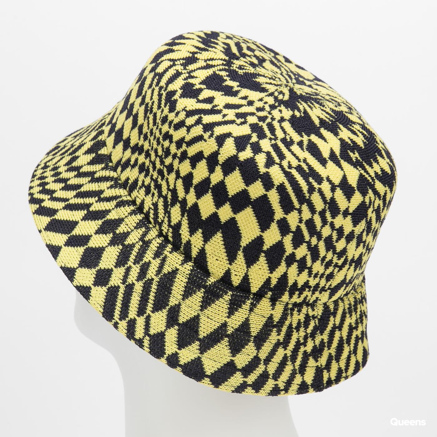 KANGOL Warped Check Bucket žlutý / navy