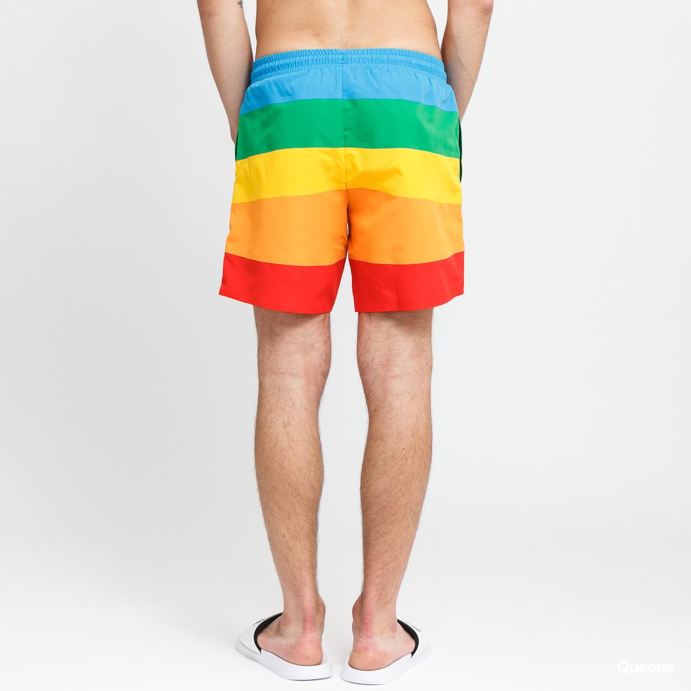 LACOSTE Polaroid Colour Striped Swimming Trunks multicolor