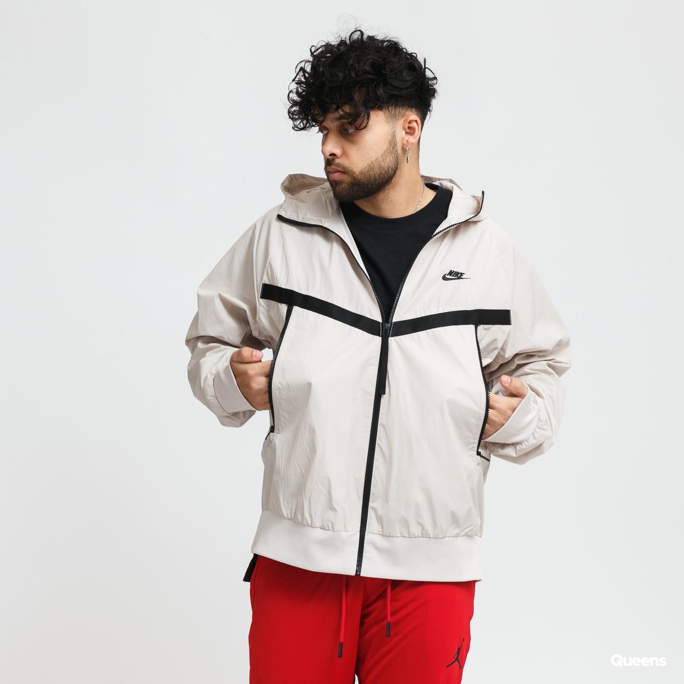 Nike M NSW Woven Windrunner Hooded Jacket béžová / černá