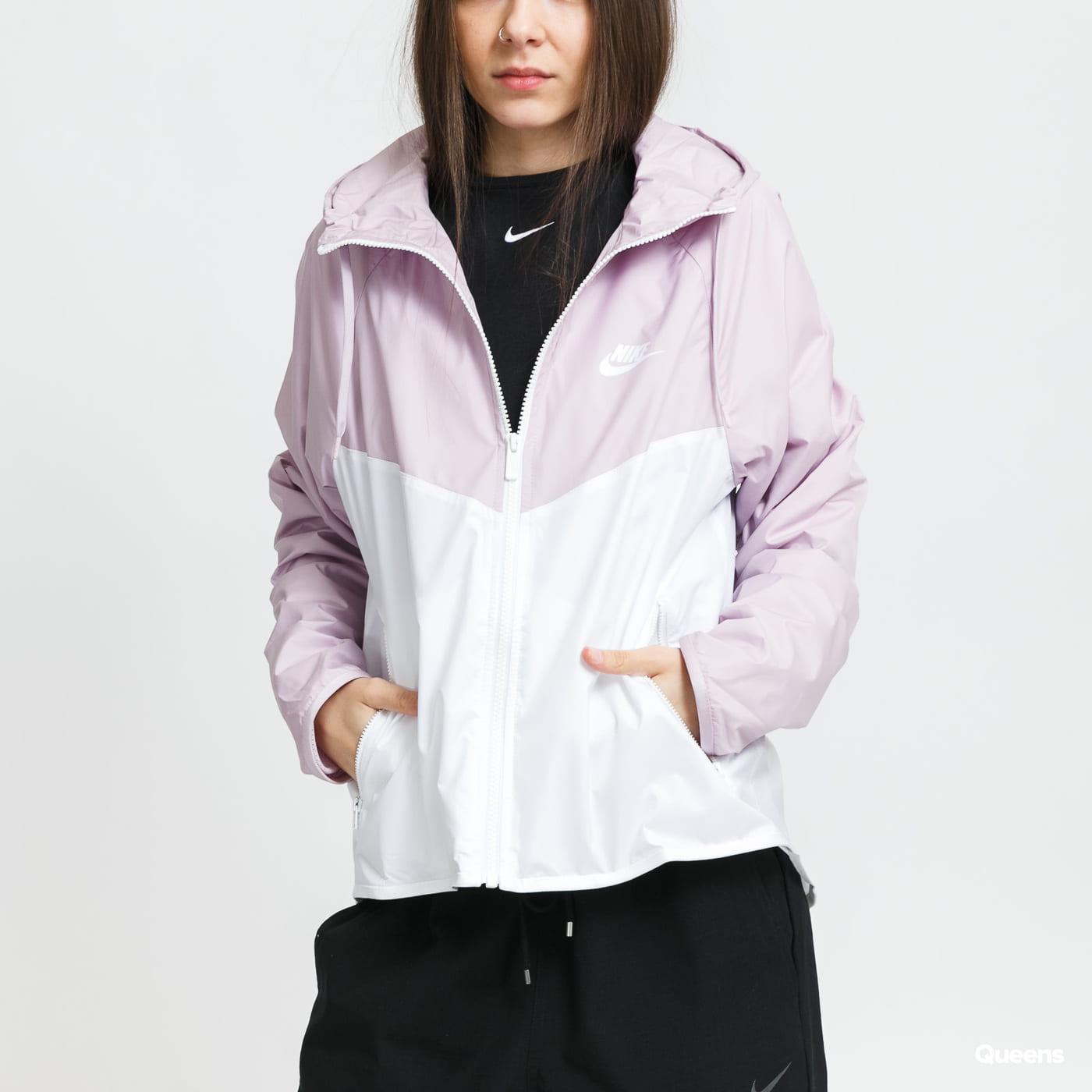 Nike W NSW Windrunner Jacket světle fialová / bílá