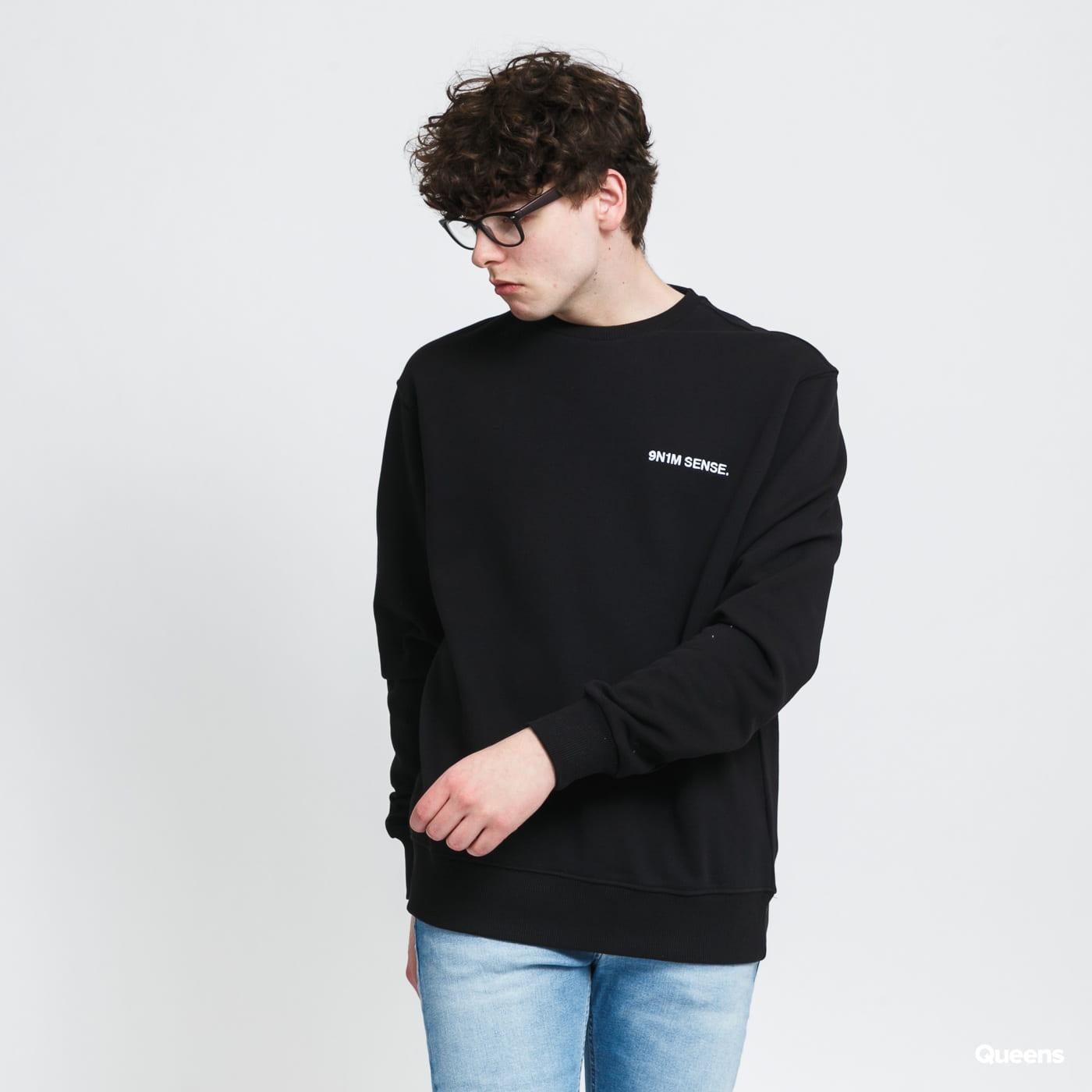 9N1M SENSE. Logo Sweatshirt černá