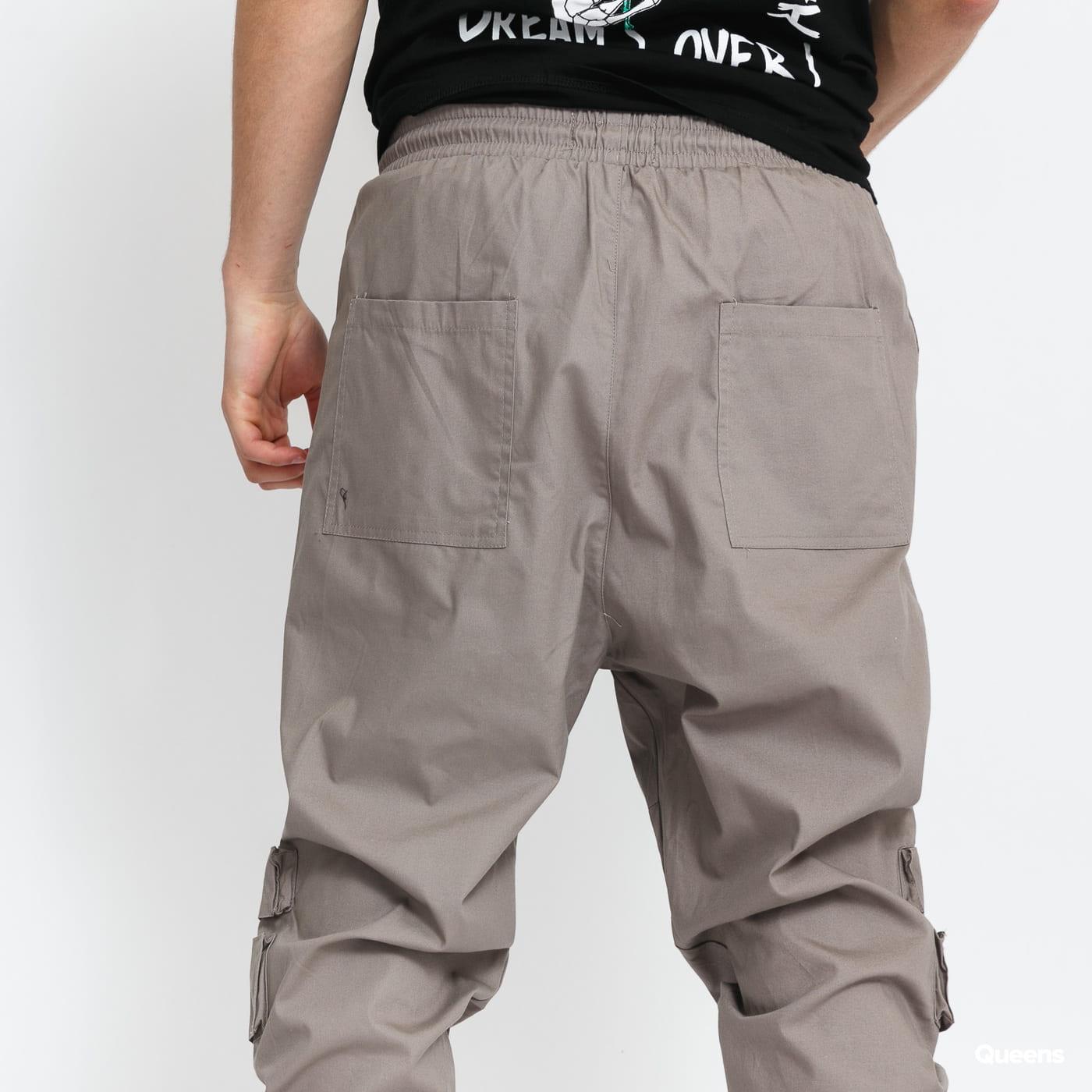 Sixth June Front Zip Pocket Cargo Pant šedé