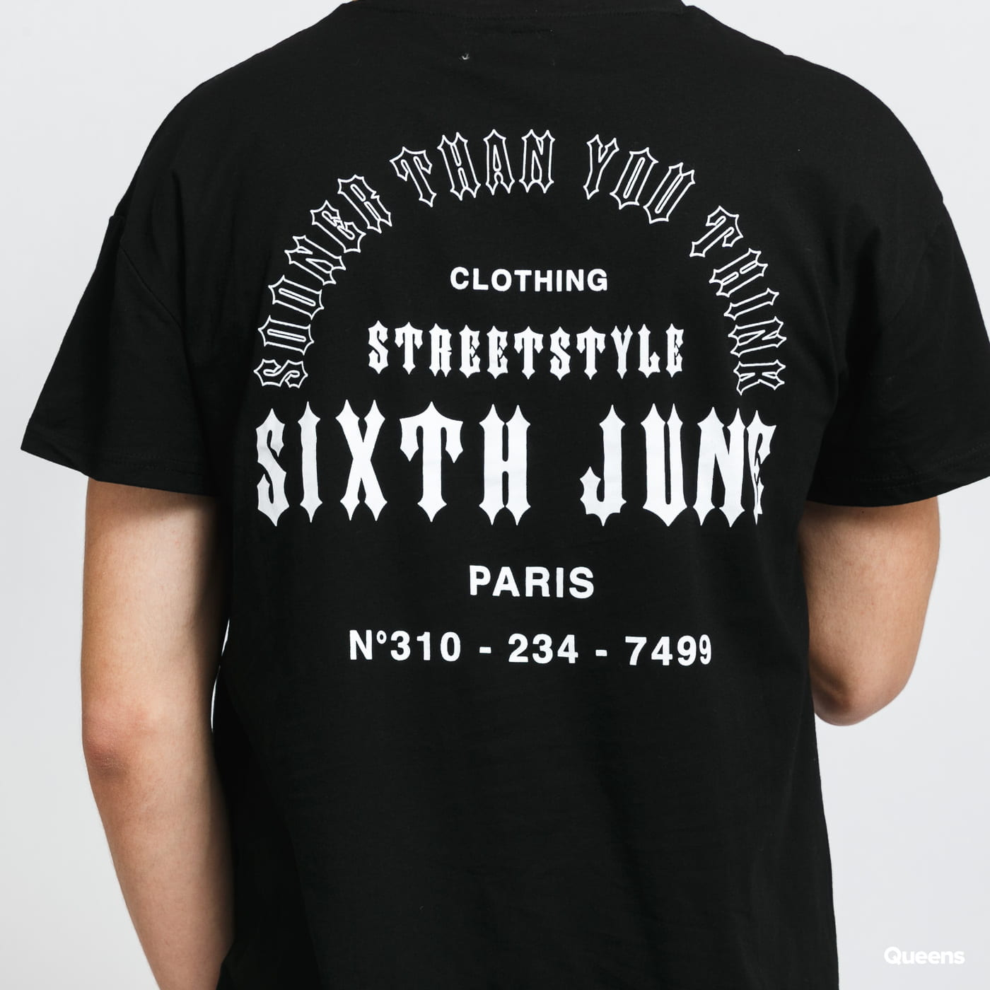 Sixth June Sooner Than You Think Tee černé