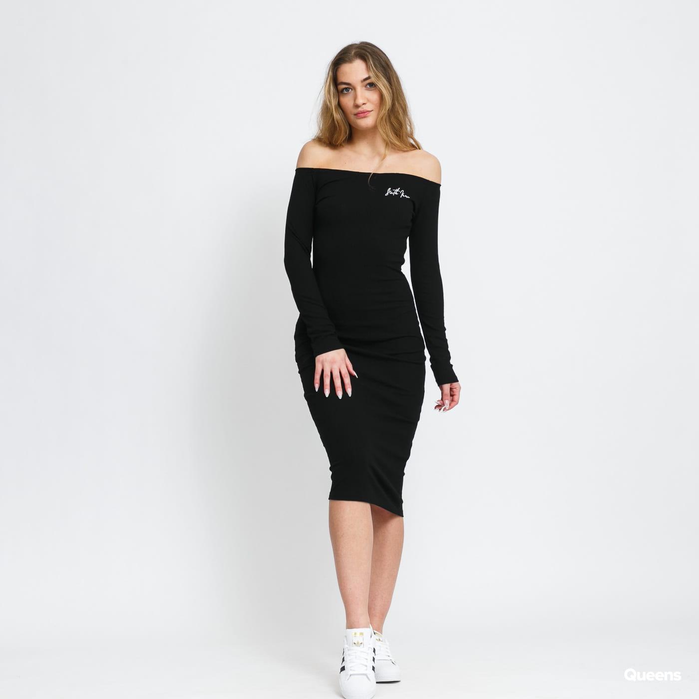 Sixth June W Ribbed Long Sleeves Dress černé