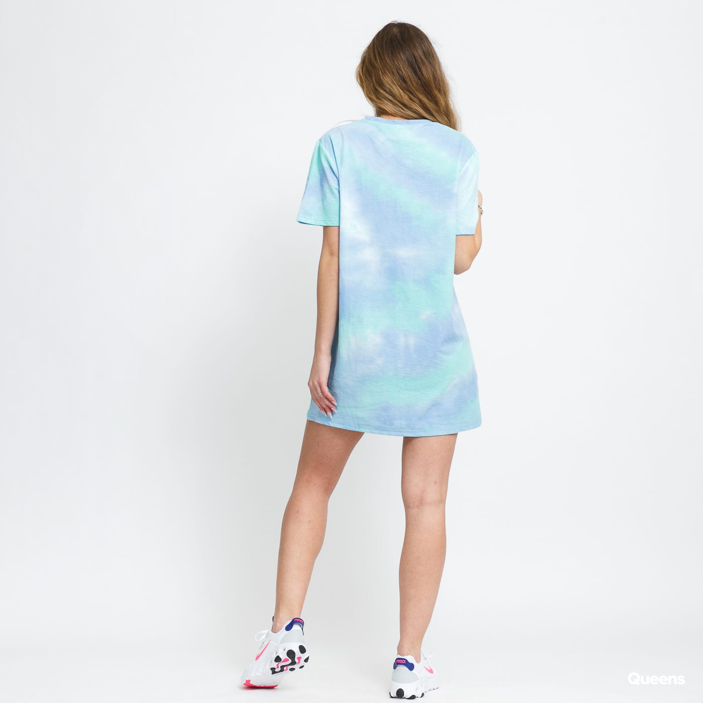 Sixth June W Tie Dye T-Shirt Dress modré / zelené