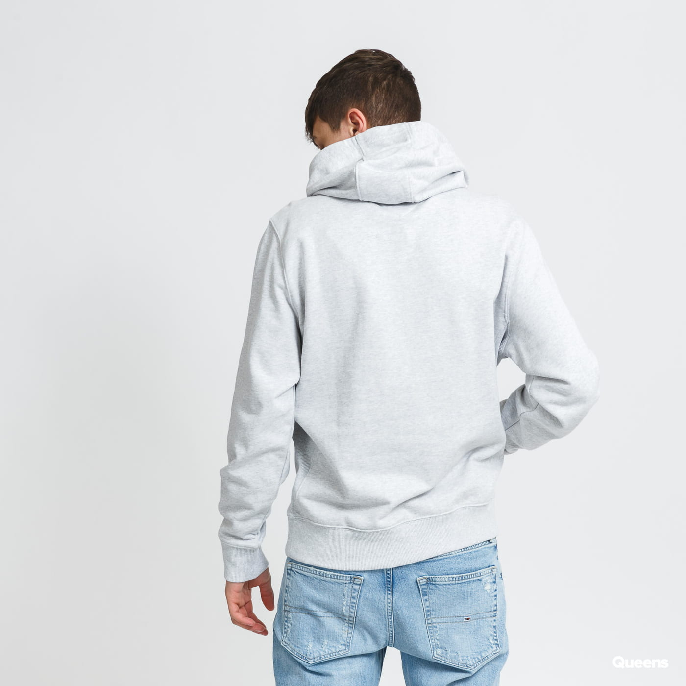 TOMMY JEANS M Timeless Tommy Hoodie melange gray