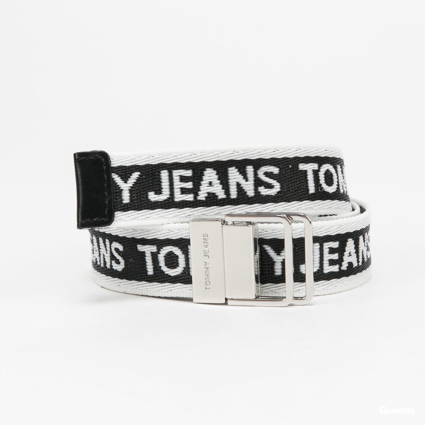 TOMMY JEANS W Mini Logo Tape Belt černý / bílý