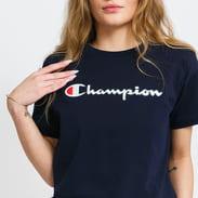 Champion Vintage Script Logo Crew Neck T-Shirt blue / turquoise