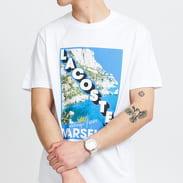 LACOSTE M Crew Neck Landscape Print Tee blue / turquoise