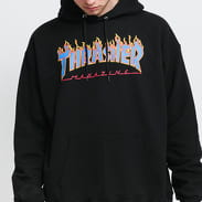Thrasher Flame Logo Hood black / blue