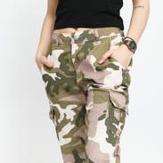 Urban Classics Ladies High Waist Camo Cargo Pants camo pink / olive / cream